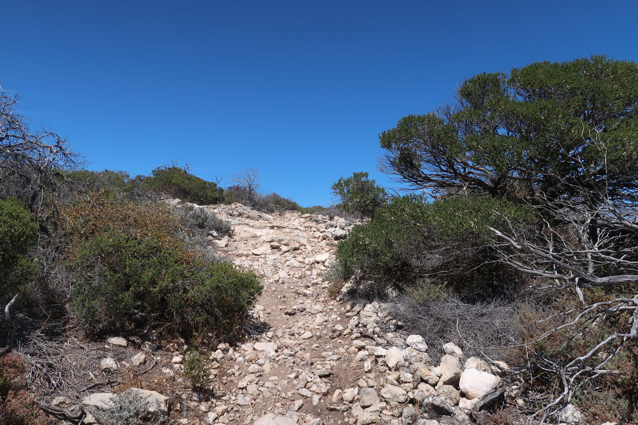 Bigurda Trail - steiniger Weg in Kalbarri, Australien