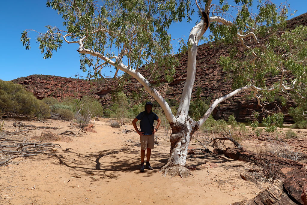 Schattenpause Wanderweg The Loop, Kalbarri Nationalpark, Australien