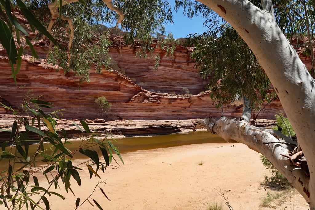 Murchison River, kleiner Strand, Kalbarri Nationalpark, Australien